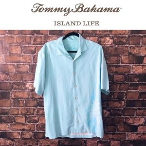 Tommy Bahama Men's Baby Blue Silk Button Down